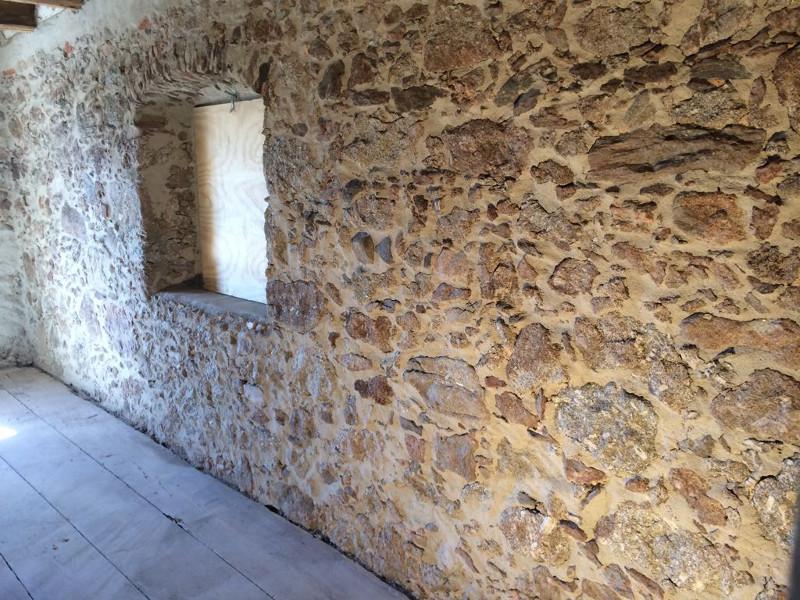 Granit Mauerwerk Sandstrahlen Nachher